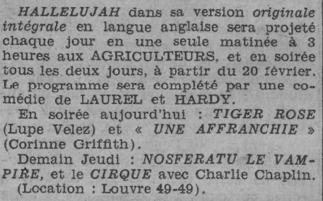 Paris-Soir du 19 février 1931