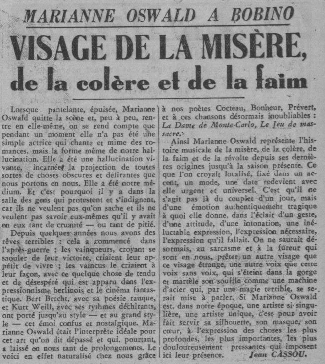 Paris-Soir le 23 novembre 1937