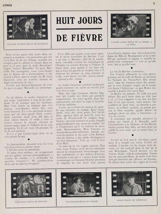 Cinéa du 23 septembre 1921