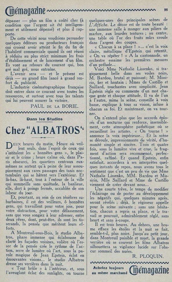 Cinémagazine du 17 octobre 1924