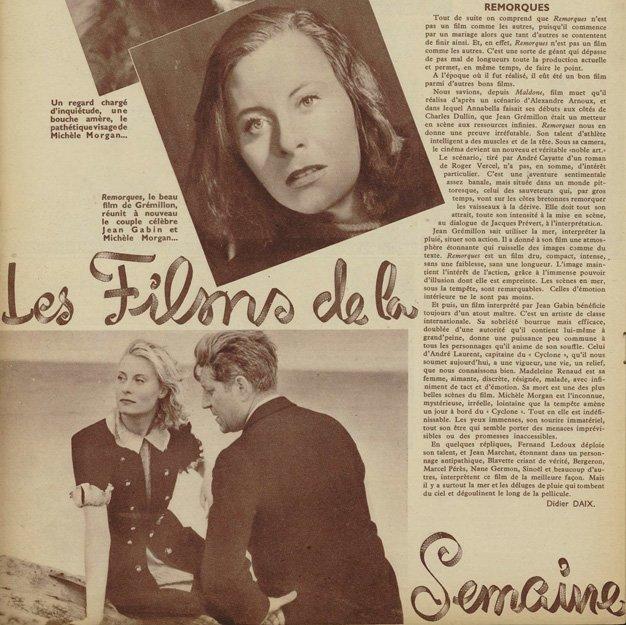 paru dans Ciné-Mondial du 5 décembre 1941