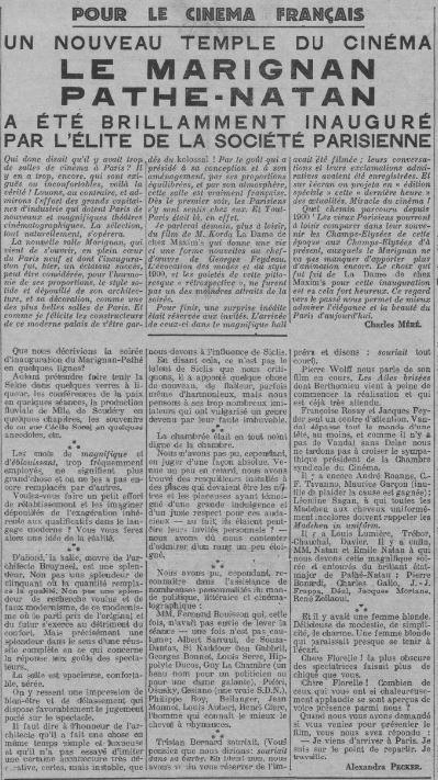 Comoedia du 01 avril 1933