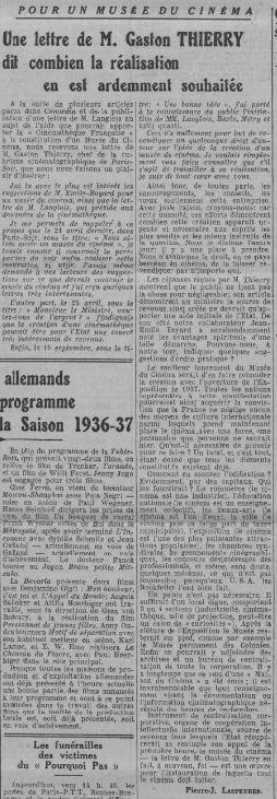 Comoedia du 10 octobre 1936
