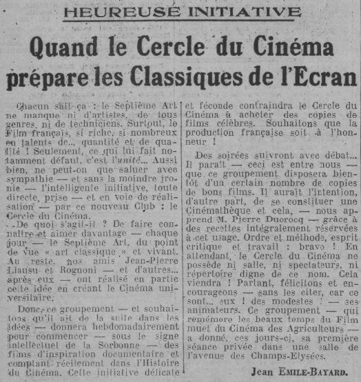 Comoedia du 20 janvier 1936