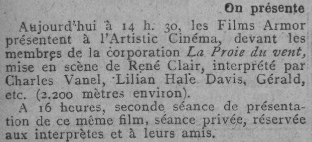 Comoedia du 18 décembre 1926