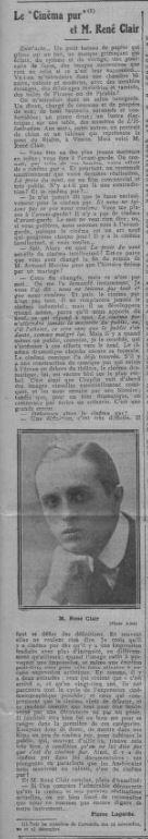 Comoedia le 31 décembre 1926