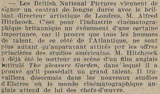 Cinémagazine du 11 juin 1926