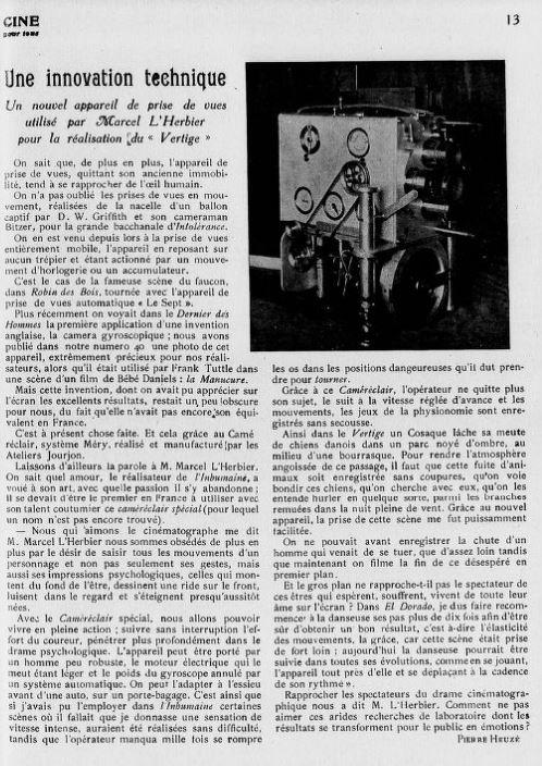 Cinéa du 15 janvier 1926