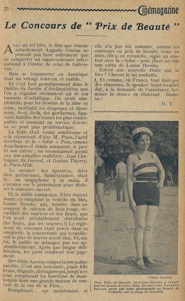 Cinémagazine du 4 Octobre 1929