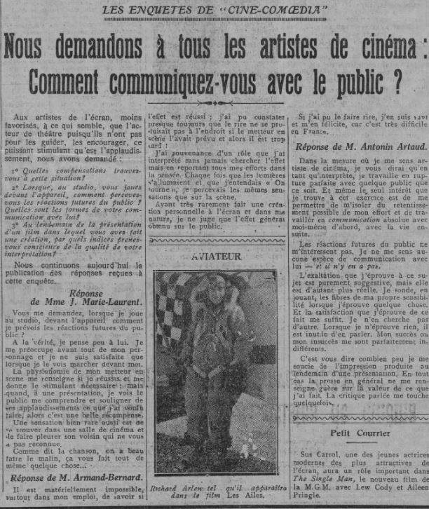 Comoedia du 29 juillet 1928