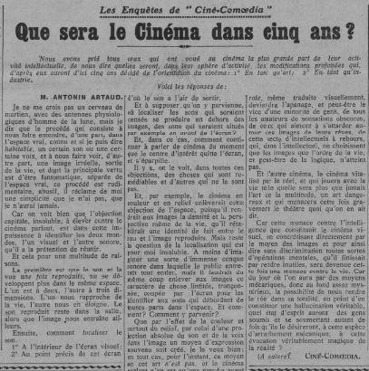 Comoedia du 29 juillet 1929