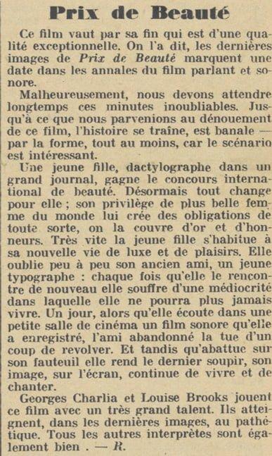 Pour Vous du 31 Juillet 1930