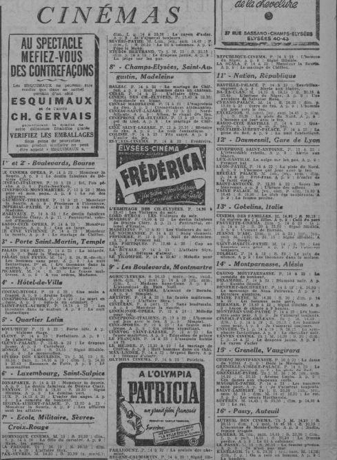 Comoedia du 5 décembre 1942