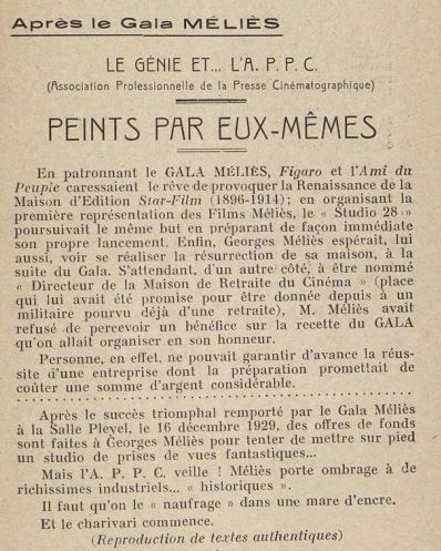 Le Nouvel Art Cinématographique du Janvier 1930