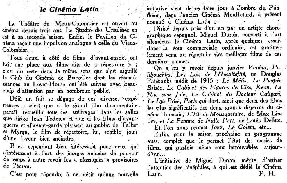 Cinéa du 1 juillet 1927