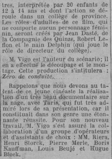 Comoedia du 1 janvier 1933