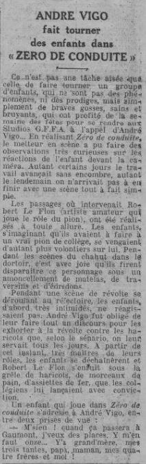 Comoedia du 16 janvier 1933