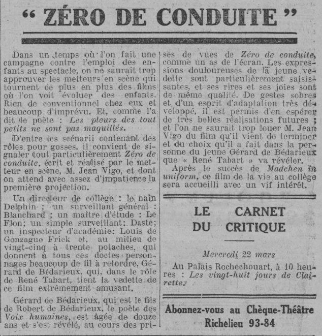 Comoedia du 16 mars 1933