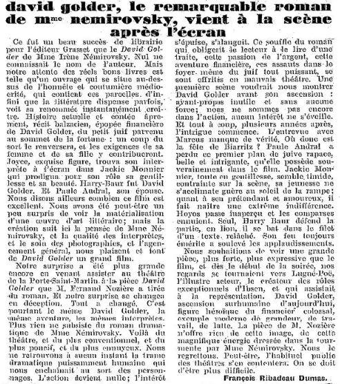 La Semaine à Paris du 2 janvier 1931