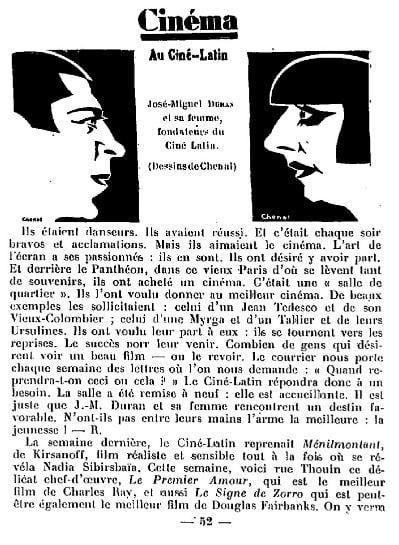 La Semaine à Paris du 21 octobre 1927