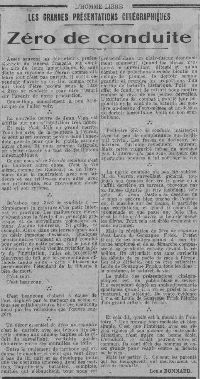 L'Homme Libre du 9 avril 1933