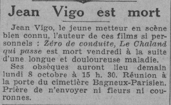 Paris-Soir du 8 octobre 1934