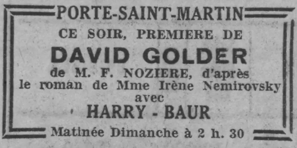 Paris-Soir du 27 décembre 1930