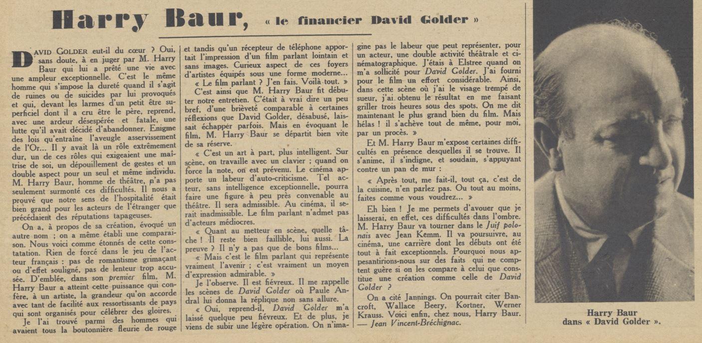 Pour Vous du 12 mars 1931