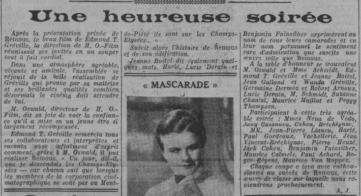 Comoedia du 5 novembre 1934