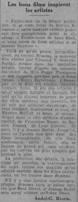 Comoedia du 8 novembre 1934