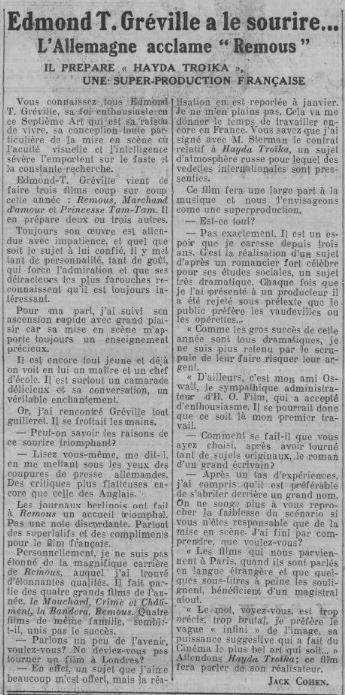 Comoedia du 27 octobre 1935