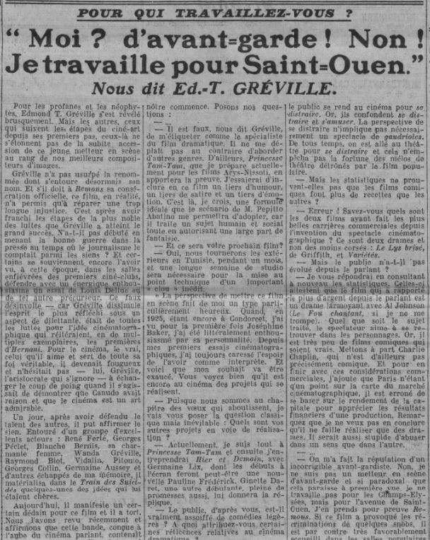 Comoedia du 31 mai 1935