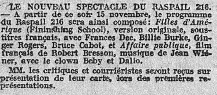L'Action Française du 15 novembre 1934