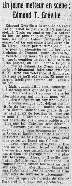 l'Intransigeant du 18 mars 1933