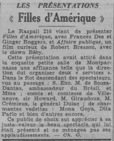 Paris-Soir du 20 novembre 1934