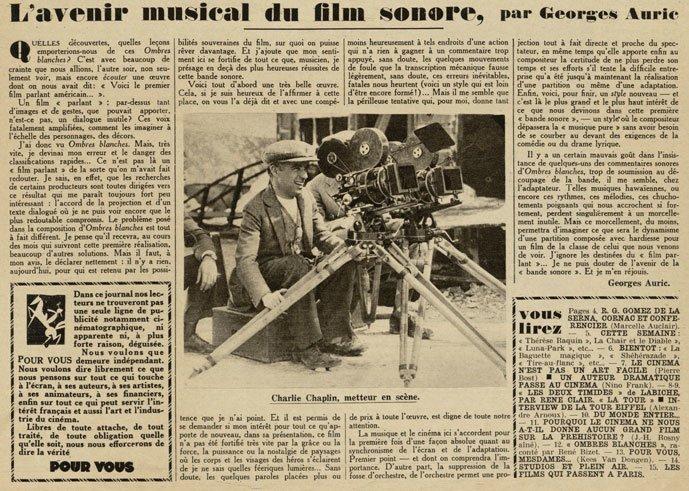 Pour Vous du 6 décembre 1928
