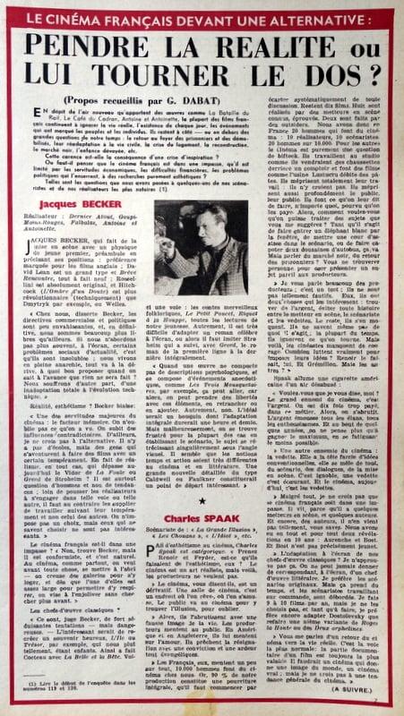 L'Ecran Français du 21 Octobre 1947