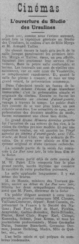 Comoedia du 23 janvier 1926