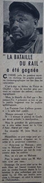l'Ecran Français du 23 Janvier 1946