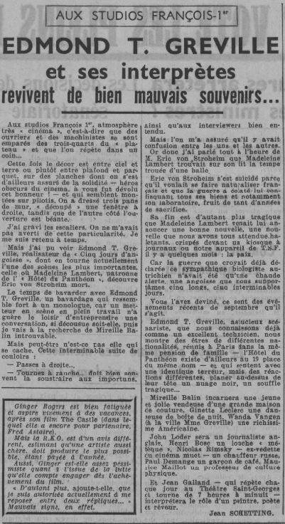 Ce Soir du 20 mars 1939
