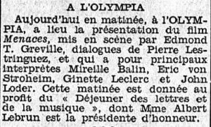 Le Petit Journal du 13 janvier 1940