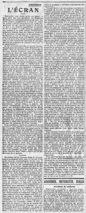 Le Temps du 23 novembre 1916
