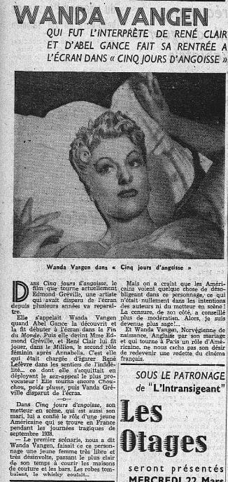 l'Intransigeant du 21 mars 1939