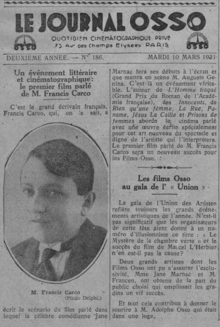 Comoedia du 10 mars 1931