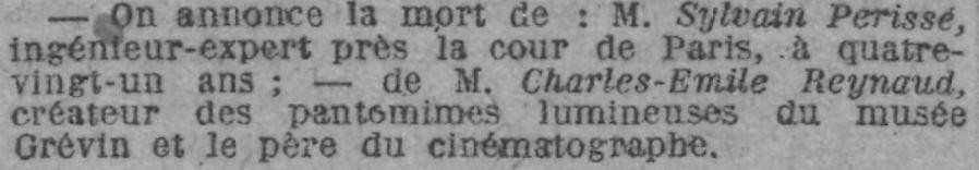 Le Journal du 14 janvier 1918