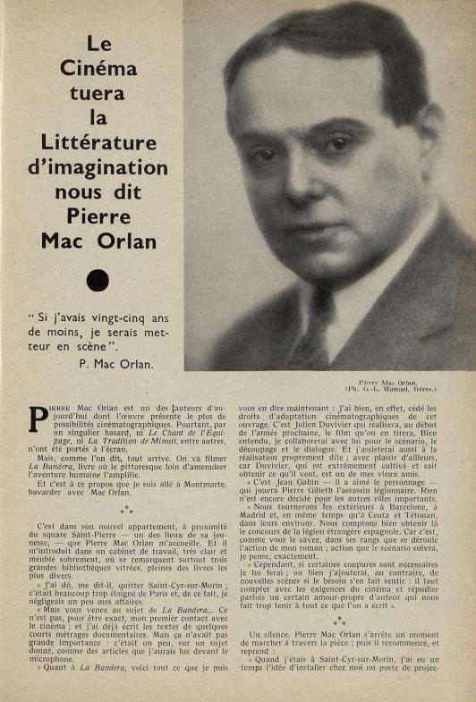 Cinémagazine du 15 novembre 1934