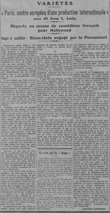 Comoedia du 29 avril 1930
