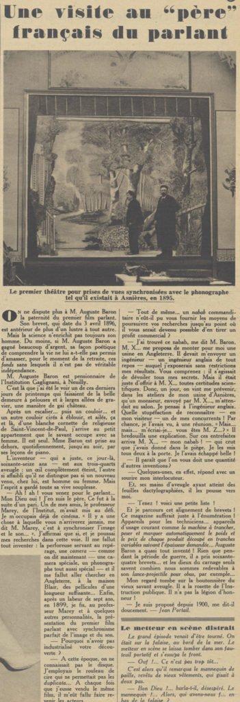 Pour Vous du 14 avril 1931