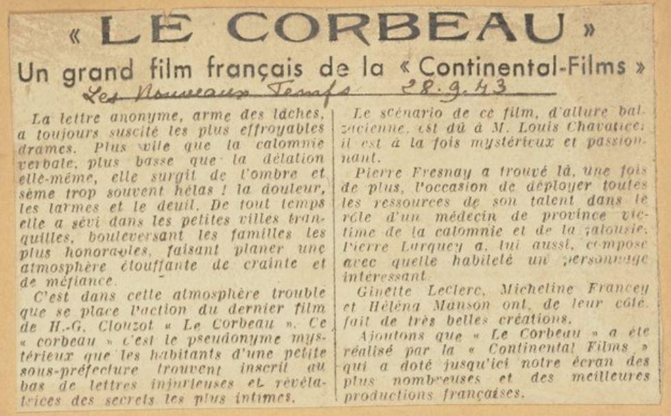 Les Nouveaux Temps du 28 septembre 1943