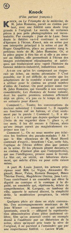 Pour Vous du 9 novembre 1933